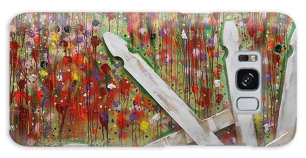 Picket Fence Flower Garden Galaxy Case