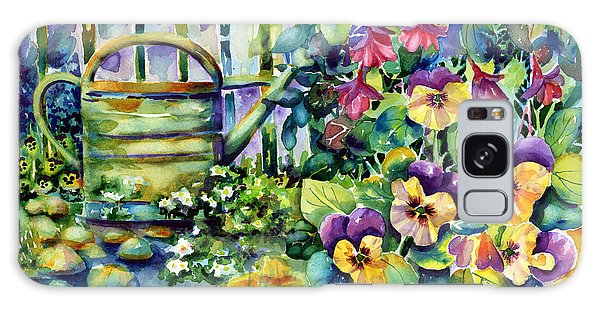 Picket Fence Pansies Galaxy Case
