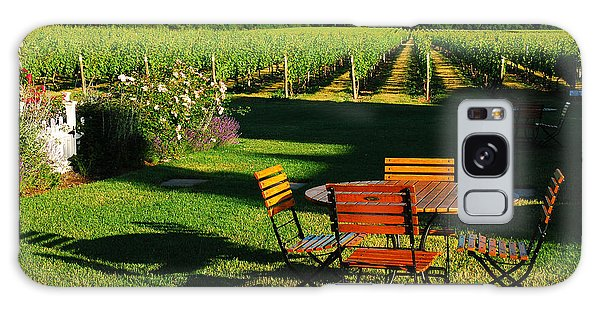 Picnic In The Vineyard Galaxy Case by James Kirkikis