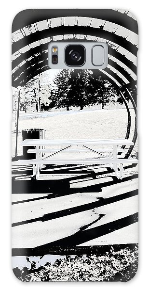 Picnic Table And Gazebo Galaxy Case