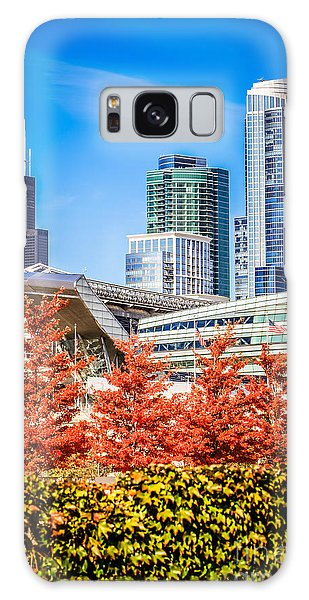 Picture Of Chicago In Autumn Galaxy Case by Paul Velgos