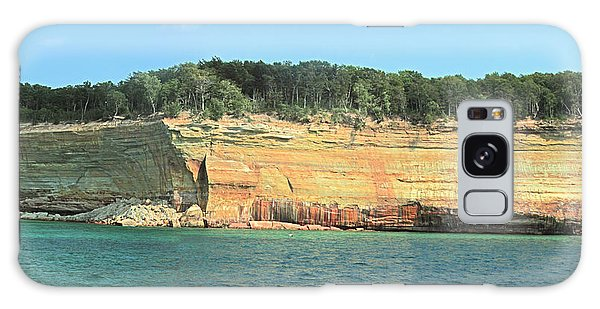 Pictured Rocks Sunlight And Shadows Panorama Galaxy Case by Bill Woodstock