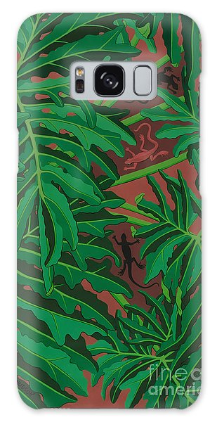 philodendron pictures - Lizard Leaves Galaxy Case