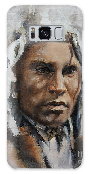 Piegan Warrior Portrait Galaxy Case