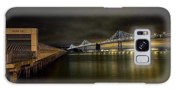 Pier 14 And Bay Bridge At Night Galaxy Case