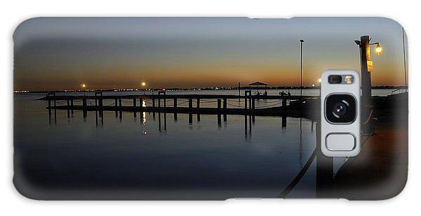 Pier At Chandlers Landing Rockwall Tx Galaxy Case by Charles Beeler