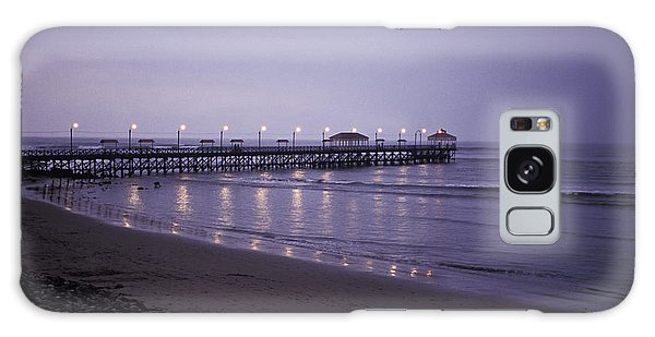 Pier At Dusk Galaxy Case by Lana Enderle