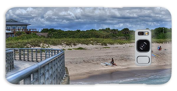 Pier At Sebastian Inlet Galaxy Case by Timothy Lowry