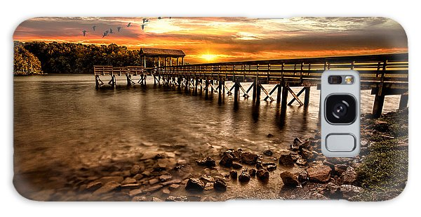 Pier At Smith Mountain Lake Galaxy Case