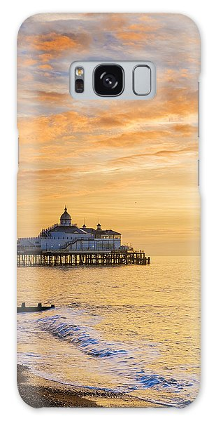 Pier At Sunrise Galaxy Case