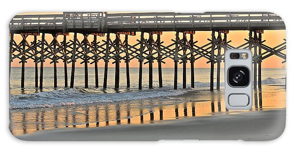 Pier At Sunset Galaxy Case by Eve Spring