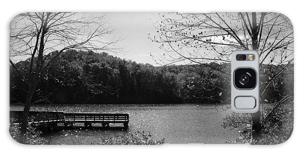 Pier At Table Rock In Black And White Galaxy Case