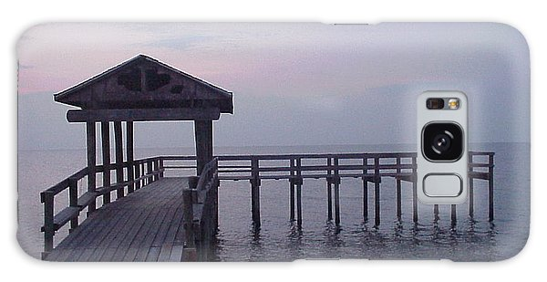 Pier Early Morning 1 Galaxy Case by D Wallace