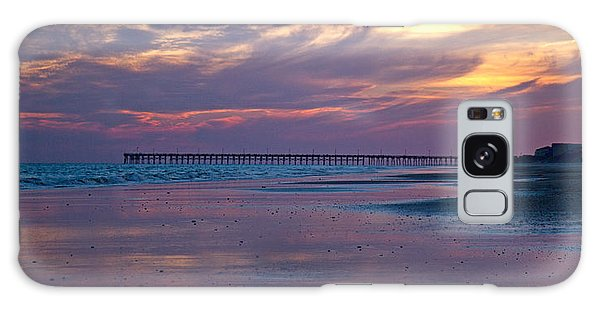 Thought Provoking Galaxy Case - Pier Sunset by Betsy Knapp