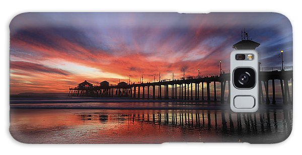 Pier Sunset Galaxy Case
