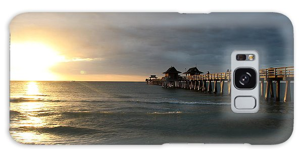 Pier Sunset Naples Galaxy Case