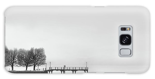 Pier Galaxy Case - Pier With Trees (2) by George Digalakis