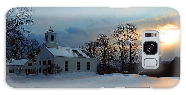 Piermont Church In Winter Light Galaxy Case