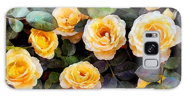 Pierre's Peach Roses Galaxy Case