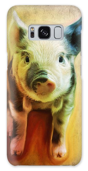 Pig Is Beautiful Galaxy Case by Barbara Orenya