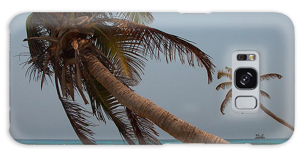 Pigeon Cays Palm Trees Galaxy Case by Susan Rovira