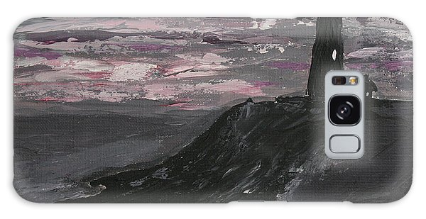Pigeon Lighthouse Impasto Sunset Monochromatic Galaxy Case by Ian Donley