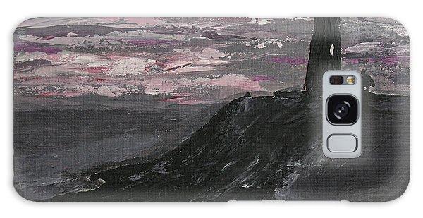 Pigeon Lighthouse Impasto Sunset Monochromatic Galaxy Case by Ian Donley