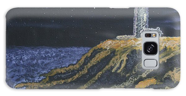 Pigeon Lighthouse Night Scumbling Complementary Colors Galaxy Case by Ian Donley