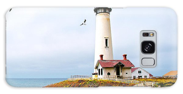 Pigeon Point Lighthouse Galaxy Case by Artist and Photographer Laura Wrede