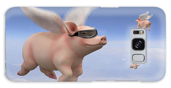 Pigs Fly Galaxy Case by Mike McGlothlen