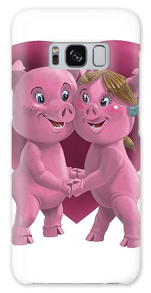 Pigs In Love Galaxy Case