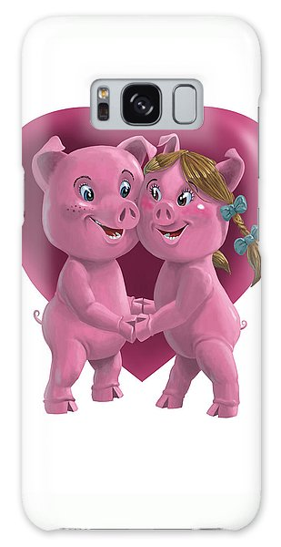 Pigs In Love Galaxy Case