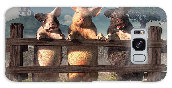 Pigs On A Fence Galaxy Case