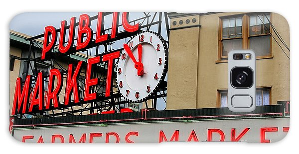 Pike Place Farmers Market Sign Galaxy Case