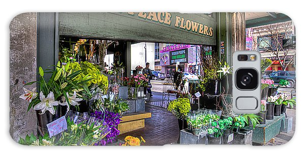 Pike Place Flowers Galaxy Case
