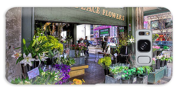 Pike Place Flowers Galaxy Case by Spencer McDonald