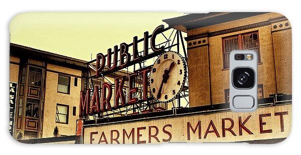 Pike Place Market - Seattle Washington Galaxy Case by David Patterson