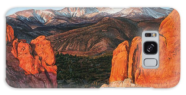 Galaxy Case featuring the painting Pikes Peak by Aaron Spong