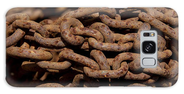 Rusty Chain Galaxy Case - Pile Of Rusty Chains by Bernard Jaubert