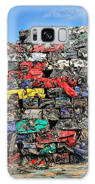 Pile Of Scrap Cars On A Wrecking Yard Galaxy Case