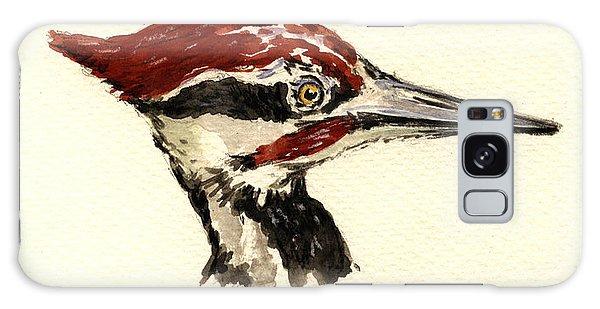 Woodpecker Galaxy S8 Case - Pileated Woodpecker Head Study by Juan  Bosco