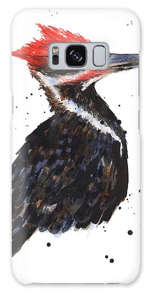 Pileated Woodpecker Watercolor Galaxy Case by Alison Fennell