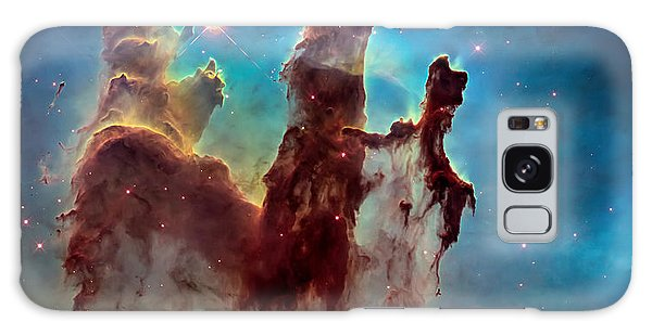 Pillars Of Creation In High Definition Cropped Galaxy Case by Jennifer Rondinelli Reilly - Fine Art Photography