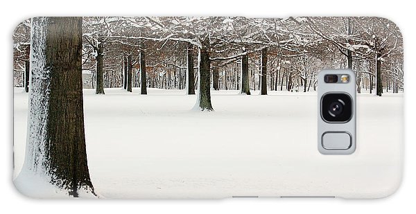 Pin Oaks Covered In Snow Galaxy Case