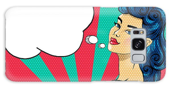 Hair Galaxy Case - Pin-up Girl With Tattoo - Illustration by Romashechka