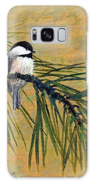 Pine Branch Chickadee Bird 1 Galaxy Case