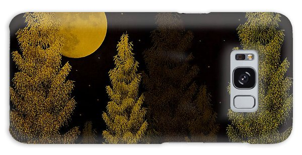 Pine Forest Moon Galaxy Case