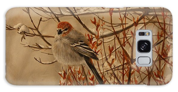 Pine Grosbeak Galaxy Case