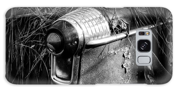 Pine Needles On Tail Light In Black And White Galaxy Case
