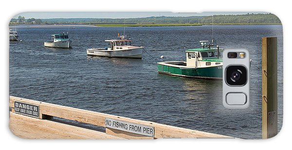 Pine Point Lobster Boat Line Galaxy Case